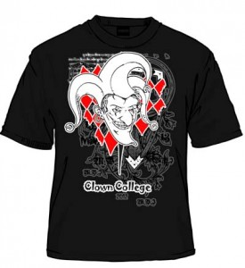Clown Harlequin Black
